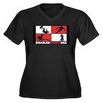Disabled Sports USA Athletics Women's Plus Size V-