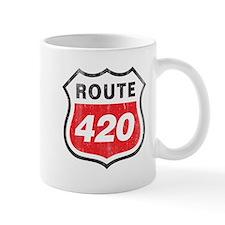 Vintage styled distressed 420 Small Mug