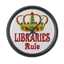 LIBRARIES Rule Large Wall Clock