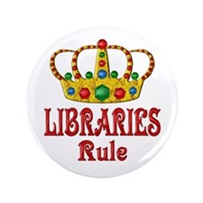 """LIBRARIES Rule 3.5"""" Button"""