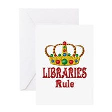 LIBRARIES Rule Greeting Card