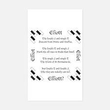 Elliot Spellings Sticker (Rectangle)