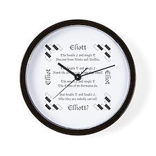 Elliot Spellings Wall Clock
