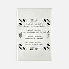 Elliot Spellings Rectangle Magnet