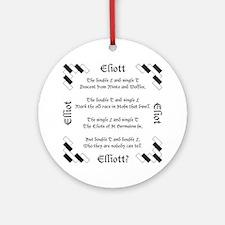 Elliot Spellings Ornament (Round)
