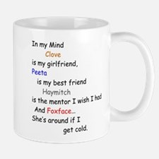Clove GF/Peeta BF/Foxface Cd 1 Mug
