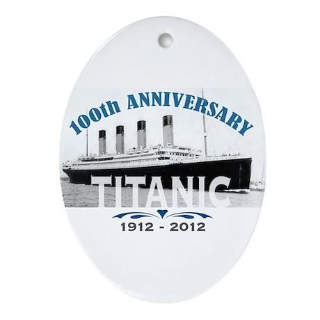 Titanic Sinking Anniversary Ornament (Oval)