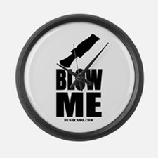 Blow Me Large Wall Clock