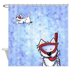 Snorkel Westies Shower Curtain