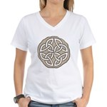 Celtic Knotwork Coin Women's V-Neck T-Shirt