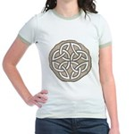 Celtic Knotwork Coin Jr. Ringer T-Shirt