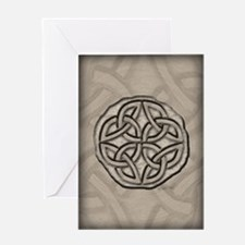 Celtic Knotwork Coin Greeting Card