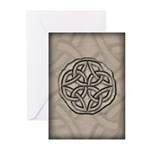 Celtic Knotwork Coin Greeting Cards (Pk of 10)