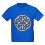 Celtic Knotwork Coin Kids Dark T-Shirt