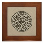 Celtic Knotwork Coin Framed Tile