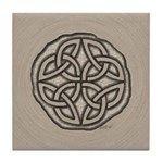 Celtic Knotwork Coin Tile Coaster