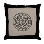 Celtic Knotwork Coin Throw Pillow