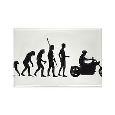Cool Evolution of man biker Rectangle Magnet (10 pack)