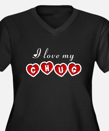 I love my Chug Women's Plus Size V-Neck Dark T-Shi