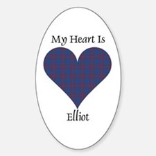 Heart - Elliot Sticker (Oval)