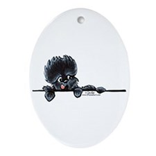 Affen Over the Line Ornament (Oval)