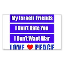 My Israeli Friends Decal