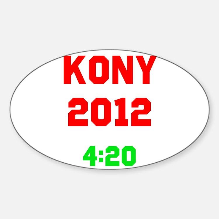 Kony 2012 4:20 Sticker (Oval)