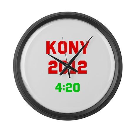Kony 2012 4:20 Large Wall Clock