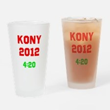 Kony 2012 4:20 Drinking Glass