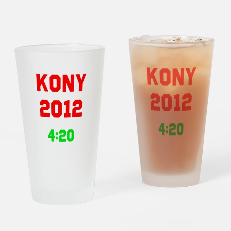 Kony 2012 4:20 Drinking Glass