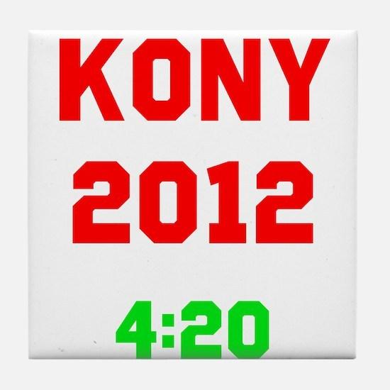 Kony 2012 4:20 Tile Coaster