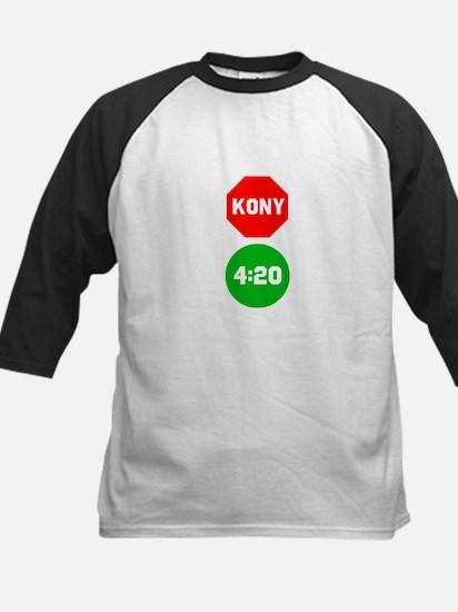 Stop Sign Kony Go 420 Kids Baseball Jersey