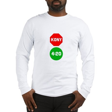 Stop Sign Kony Go 420 Long Sleeve T-Shirt