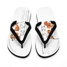 Basset Hound Places to Go Flip Flops
