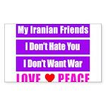 My Iranian Friends Sticker (Rectangle)
