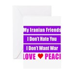 My Iranian Friends Greeting Card