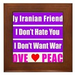 My Iranian Friends Framed Tile