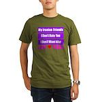 My Iranian Friends Organic Men's T-Shirt (dark)