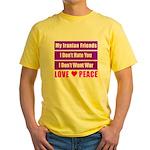 My Iranian Friends Yellow T-Shirt