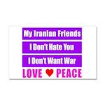 My Iranian Friends Car Magnet 20 x 12