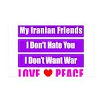 My Iranian Friends 38.5 x 24.5 Wall Peel