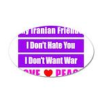 My Iranian Friends 38.5 x 24.5 Oval Wall Peel