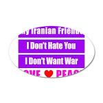 My Iranian Friends 22x14 Oval Wall Peel