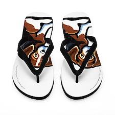 Tricolor Beagle Cartoon Flip Flops