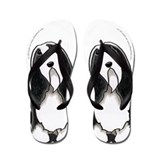 Bearded collie Flip Flops