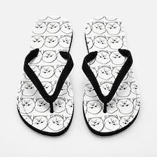 Lotsa Bichons Flip Flops