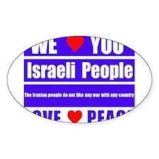 We Love You Israeli People Decal