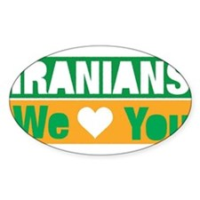 Iranians We Love You Decal