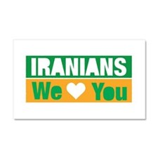 Iranians We Love You Car Magnet 20 x 12