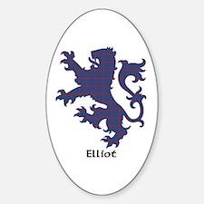 Lion - Elliot Sticker (Oval)